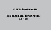 1ª Sessão Ordinária 06-02-2018