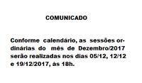 Calendário Dezembro-2017
