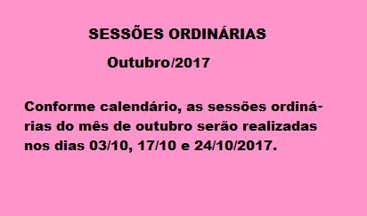 Calendário Outubro-2017